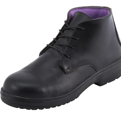 LADIES BLACK LACE-UP SAFETY