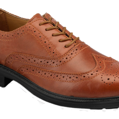 BROWN SAFETY BROGUE WITH STEEL MIDSOLE