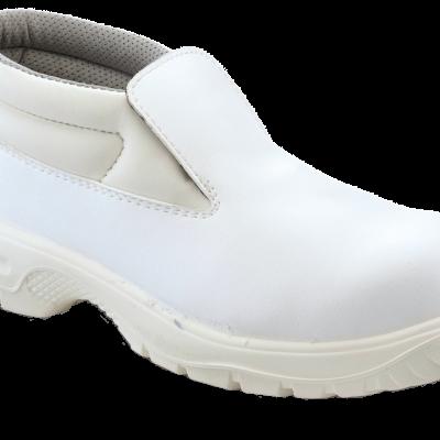 WHITE SAFETY  SLIP ON CHUKKA