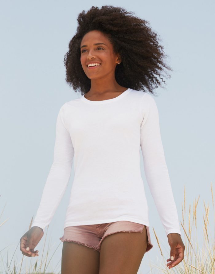 Lady-Fit Long Sleeve Crew Neck T-Shirt