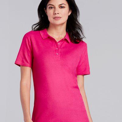Gildan S/tstyle Ladies Double Pique Polo