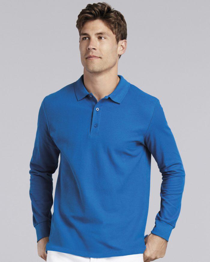 Gildan Premium Cotton L/Sleeve Polo