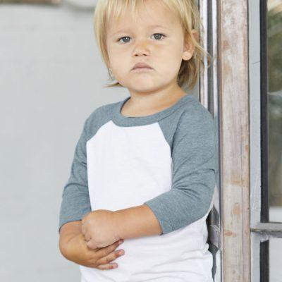 Canvas Toddler 3/4 Sleeve Baseball Tee