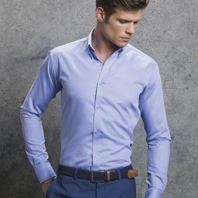 Kustom Kit L/S Oxford Twill Shirt