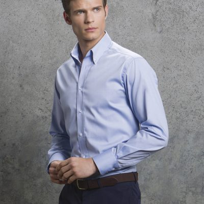 Men's Long Sleeve Tailored Fit Premium Oxford Shirt