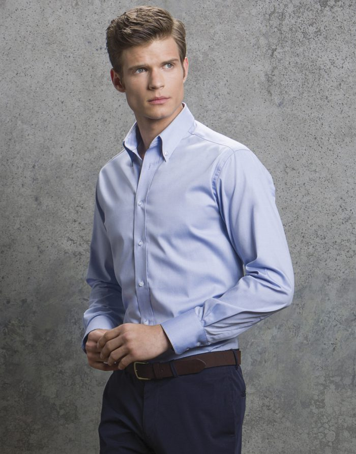 Men's Long Sleeve Tailored Fit Premium Oxford Shirt