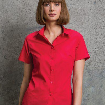Kustom Kit Womens S/S Poplin Shirt