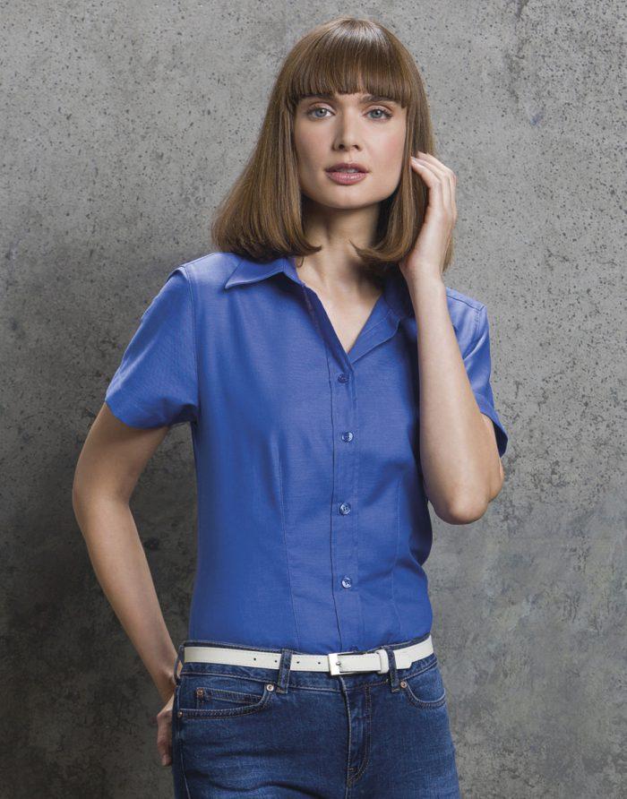 Kustom Kit Ladies Pinpoint S/S Shirt