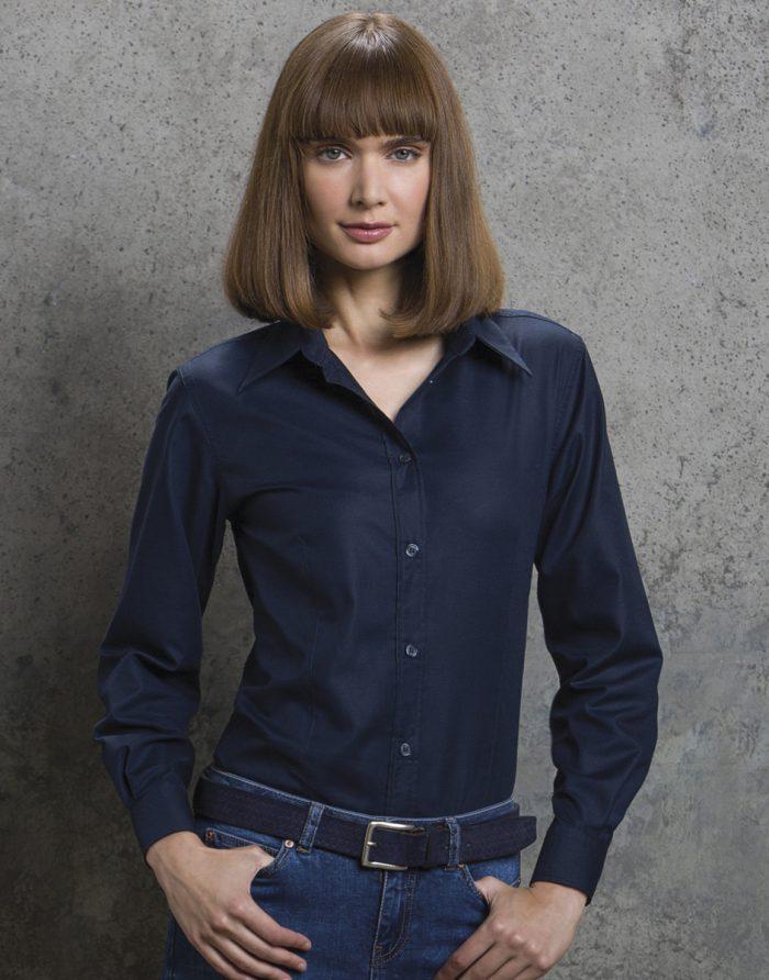 Kustom Kit Ladies Pinpoint L/S Shirt