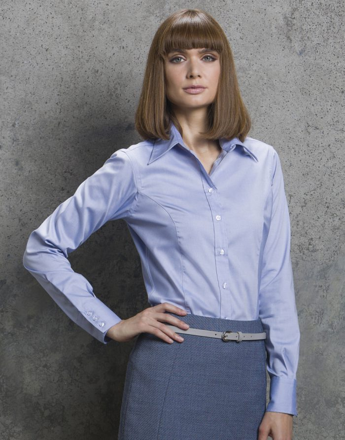 Kustom Kit Ladies L/Sleeve Oxford Shirt
