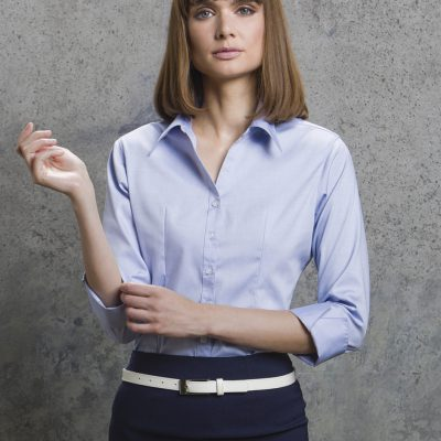Ladies' 3/4 Sleeve Corporate Oxford Shirt