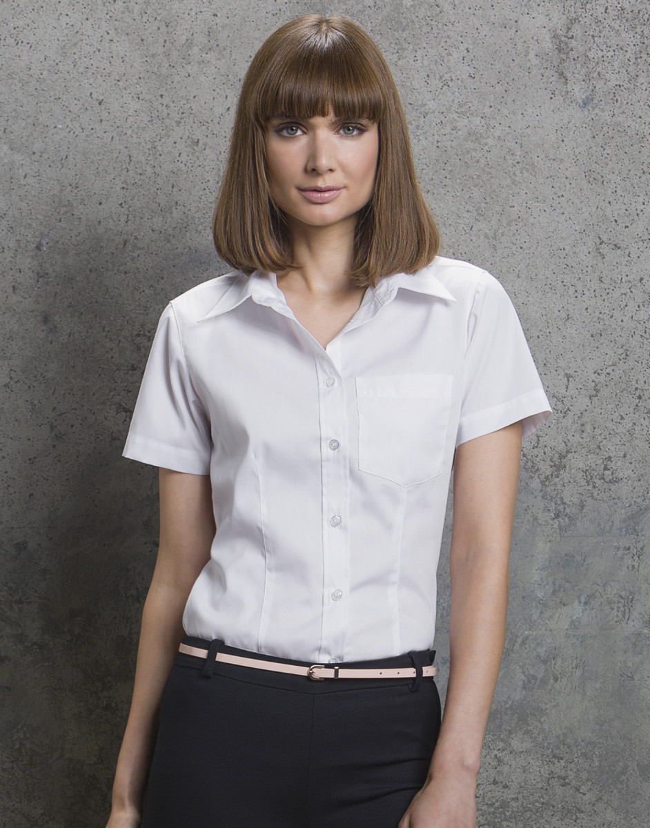 f63cf0b74 Ladies' Short Sleeve Corporate Pocket Oxford Shirt – Pro-Parts Workwear