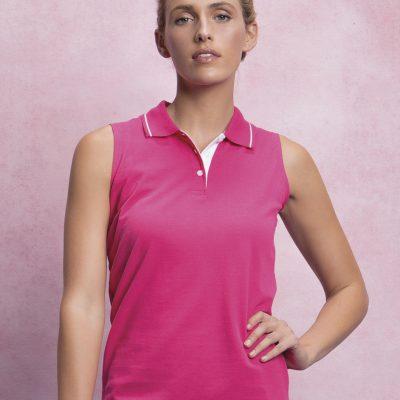 Ladies Proactive Sleeveless Polo