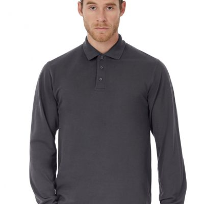 B&C Heavymill L/Sleeve Polo Shirt