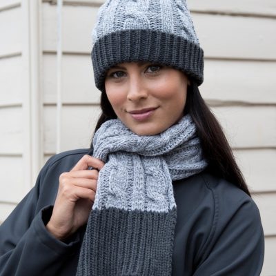 Result Winter Shades Of Grey Knit Scarf