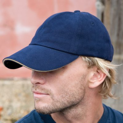 Pro-Style Heavy Brushed Cotton Cap With Sandwich Peak