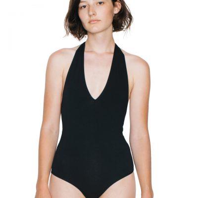 American Apparel Womens Halter Bodysuit