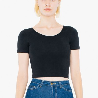 American Apparel Womens S/S Crop Top