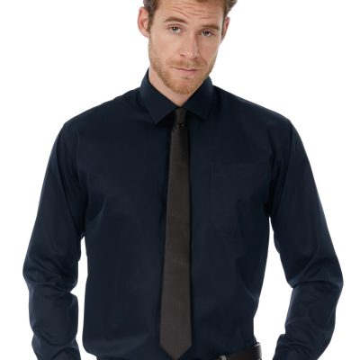Men's Sharp Twill Cotton Long Sleeve Shirt