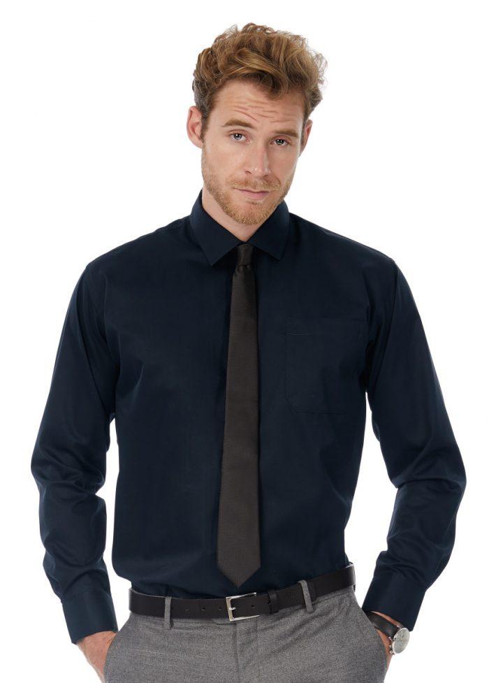 Men's Sharp Twill Cotton Long Sleeve Shirt