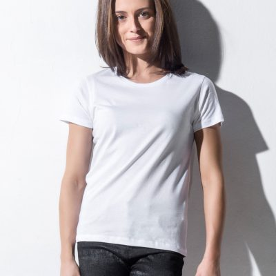 Nakedshirt Womens Fitted Crew Neck Tee